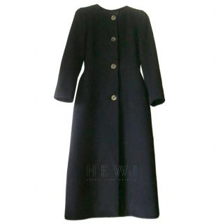 Paule Ka Black Long Wool Blend Coat