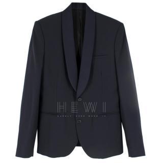 Advani Navy Men's Mohair Blend Jacket