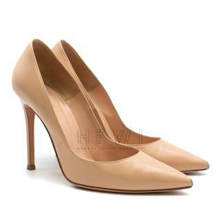 Gianvito Rossi Nude Leather Pumps