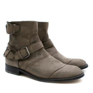 Belstaff Suede Leather Ankle Boots