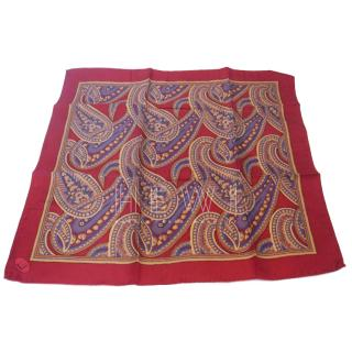 Dunhill Red Paisley Print Scarf