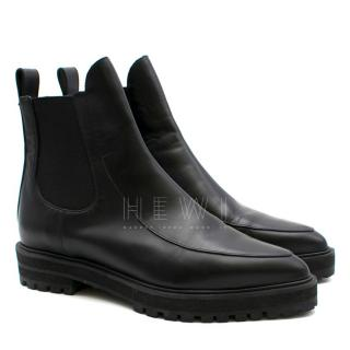 Proenza Schouler Black Leather Chelsea Ankle Boots