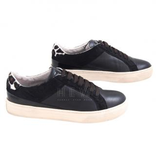 Tod's Leather & Calf Hair Sneakers
