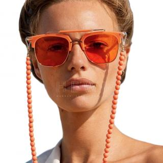 Pared Cocktails & Dreams Coral Oversize Sunglasses