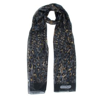 Salvatore Ferragamo Animal Print Silk Scarf
