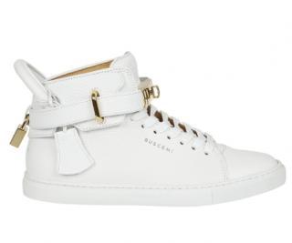 Buscemi White Padlock Hi-Top Sneakers