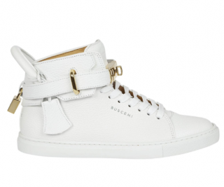 Buscemi White Padlock Hi-Top Sneakers