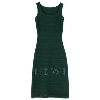 Ala�a Metallic Eyelet-Print Compact Knit Dress