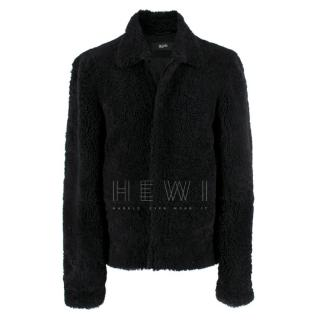 Blood Brother Black Lamb Shearling Coat