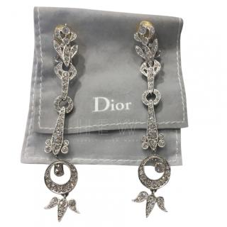 Dior Crystal Embellished Drop Earrings