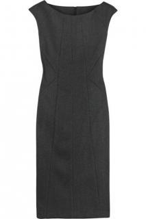 Karl Lagerfeld anthracite grey wool twill panelled dress