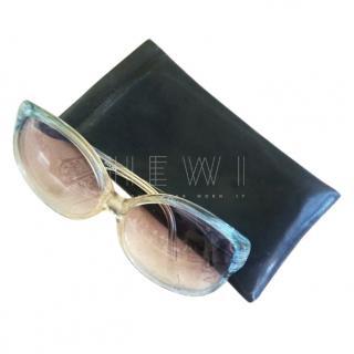 Vintage 1970's rare light blue Balenciaga sunglasses