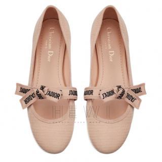 Dior beige leather Dio Miss J'Adior ballet flats