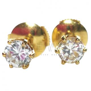 Bespoke French Rock Crystal/18ct gold Stud Earrings