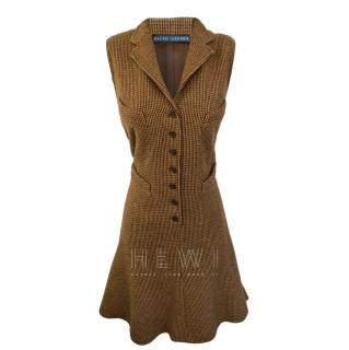 Ralph Lauren brown tweed wool/silk dress