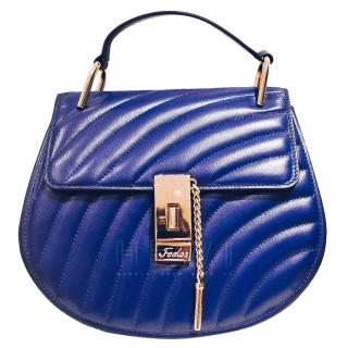 Feelos29 Blue Quilted Shoulder Bag