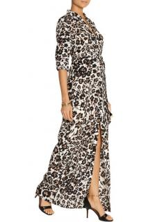 Diane Von Furstenberg Amina Cheetah Print Maxi Dress