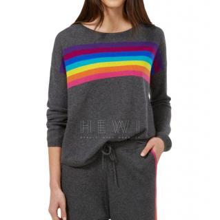 Wyse London Ines Slouchy Rainbow Cashmere Tracksuit