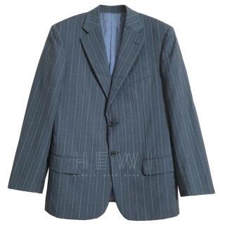 Pal Zileri grey wool pinstriped blazer