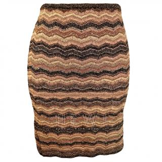 M Missoni gold/bronze knit skirt