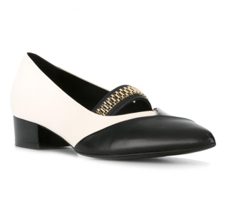 Lanvin Chain Vamp Two-Tone Pumps