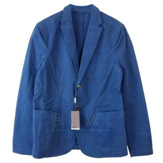 Michael Kors Blue Unlined Blazer