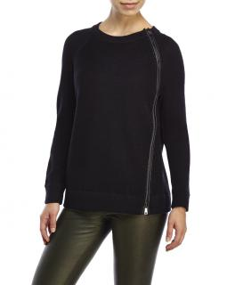 Vince Leather Trim Knit Jumper