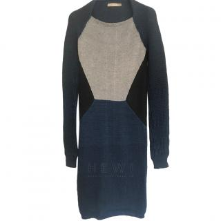 Balenciaga Colourblock Wool Knit Dress