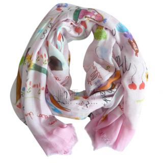 Dolce & Gabbana Pink Cashmere Blend Children's Drawing Shawl