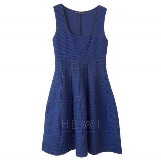 RVN Blue Textured Skater Dress