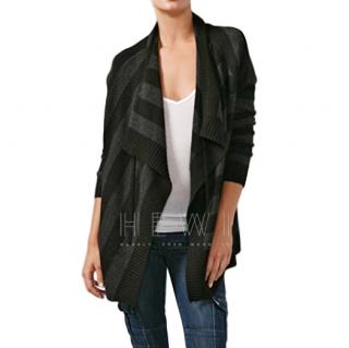 Vince Cashmere & Wool Blend Striped Open Cardigan