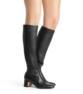 Stuart Weitzman black leather knee boots