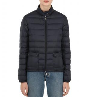 Moncler Lans Longue Saison Nylon Down Jacket in Navy