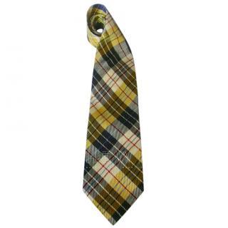 Moschino Tartan Yellow Tie