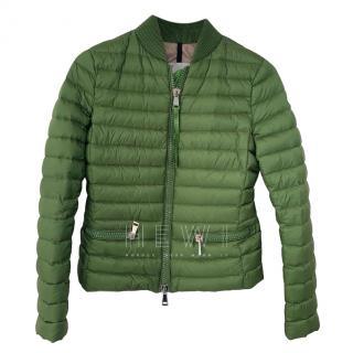 Moncler Green Goose Down Longue Saison Jacket