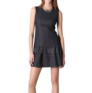 Theory scoop-neck wool dress