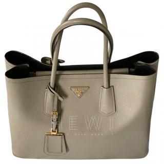Prada Double Handbag Saffiano Cuir Leather