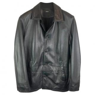 Boss Hugo Boss Black Lambs Leather Jacket