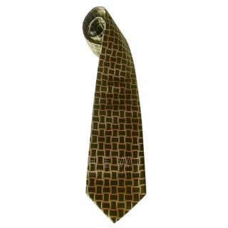 Christian Dior Olive Silk Tie