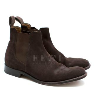 Grenson Dark Brown Suede Men's Chelsea Boots