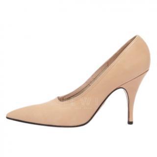 Victoria Beckham nude leather Dorothy pump
