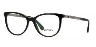 Chanel Cat-Eye Chain Trim Glasses