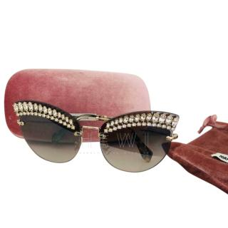 Miu Miu crystal cat eye sunglasses