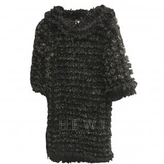 Chanel Alpaca, Mohair & Wool Metallic Knit Dress