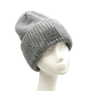 Acne Studios Grey Ribbed Pansy Beanie