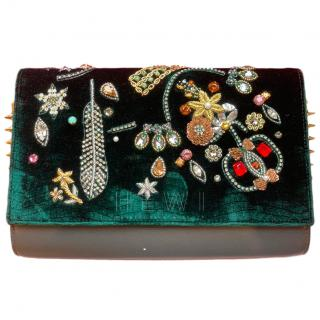 Christian Louboutin Paloma Castaloubi Beaded Clutch Bag