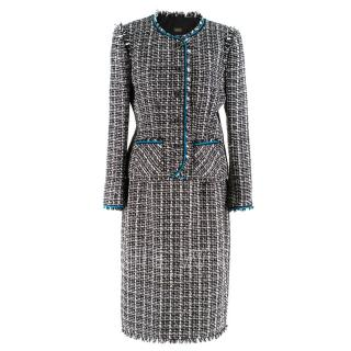 Caroline Charles Tweed Jacket & Skirt Set
