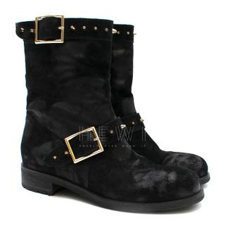 Jimmy Choo Youth Studded Suede Distressed Ankle Boots