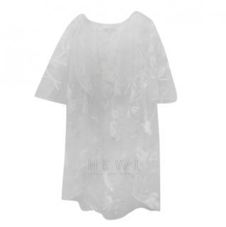 Savin London White Embroidered Bridal Overcoat