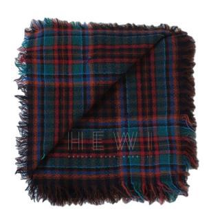 Kenzo Plaid Wool Twill Scarf
